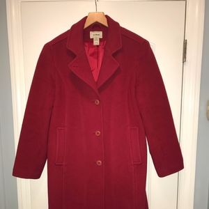 L.L Bean Thinsulate Red Womens Peacoat 10P